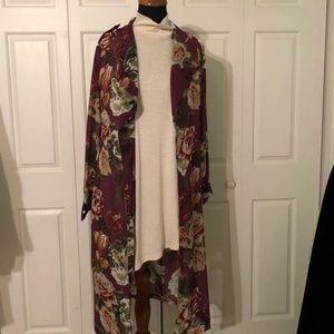 NWT Xraren floral kimono.